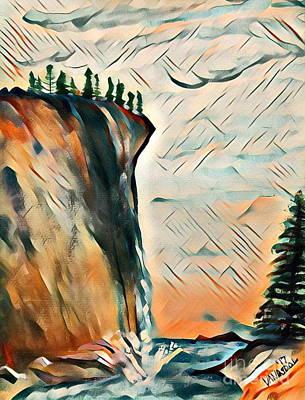 Falls From Clouds Falls - Sunset Art Print
