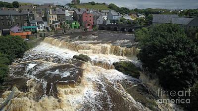 Digital Art - Falls In Ennistymon by Niall Cosgrove