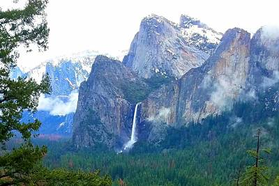 Photograph - Falls In Yosemite C by Phyllis Spoor
