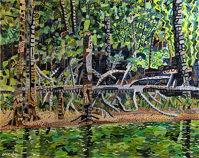 Falls Lake In July Art Print by Micah Mullen
