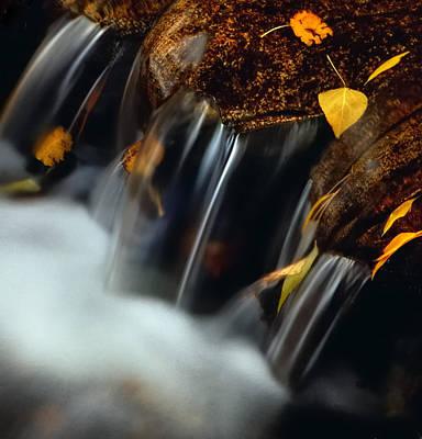 Falls Of Autumn Art Print by Steven Milner