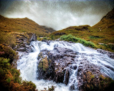 Falls Of Glencoe Art Print by Ray Devlin
