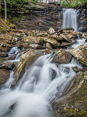 Photograph - Falls Of Hills Creek Middle Falls by Andy Crawford