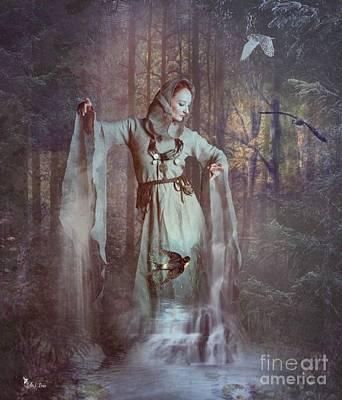 Digital Art - Falls Of The Secret Woods by Ali Oppy