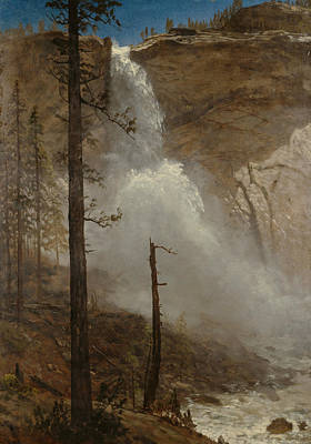 Fall Of River Painting - Falls Of Yosemite by Albert Bierstadt