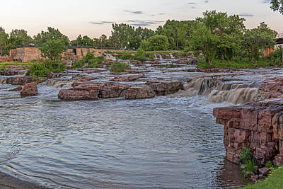 Photograph - Falls Park 2  Sioux Falls South Dakota by Willie Harper