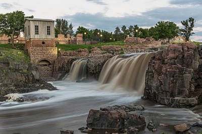 Photograph - Falls Park At Twilight by Willie Harper