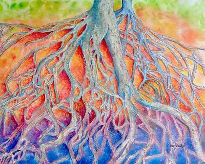 Painting - Falls Park Medusa And Child by Barb Toland