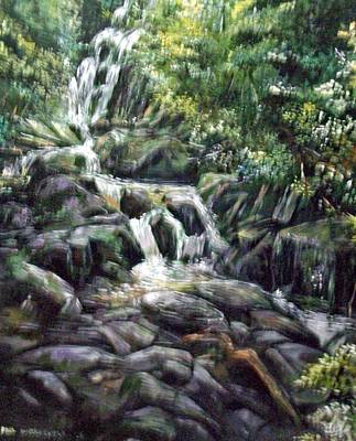 Art Print featuring the painting Falls  by Paul Weerasekera