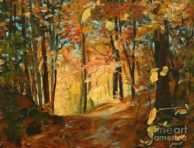 Painting - Fall's Radiance In Quebec by Claire Gagnon
