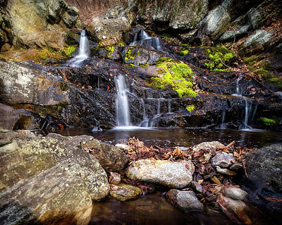 Photograph - Falls Rocks Pools by Alan Raasch