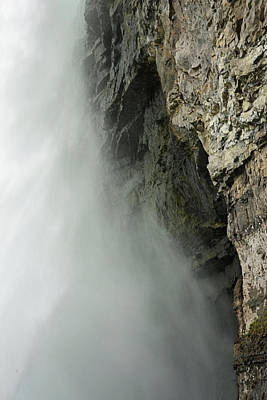 Photograph - Falls And Cliff by Nadalyn Larsen