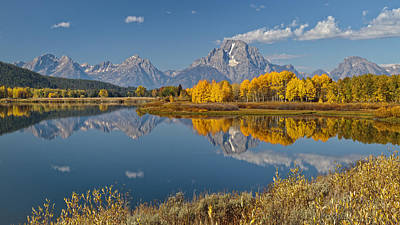 Photograph - Falltime At Oxbow Bend by Wes and Dotty Weber