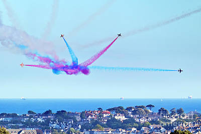 Photograph - Falmouth Bay A Red Arrows Fan by Terri Waters