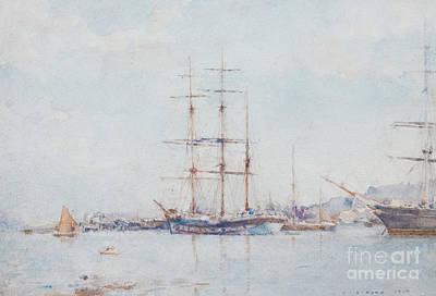 Tuke Painting - Falmouth Bay by Henry Scott Tuke