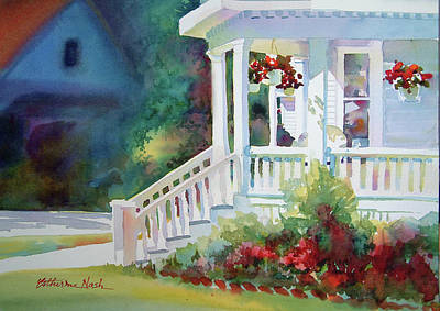 Falmouth Porch Art Print by Catherine Nash