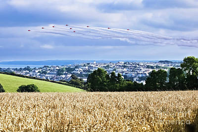 Photograph - Falmouth Red Arrows Display 2016 by Terri Waters