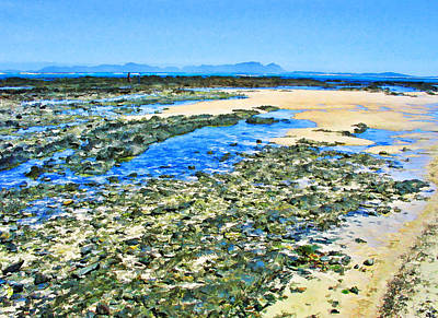 False Bay Low Tide Art Print by Jan Hattingh