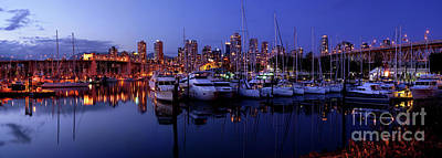 Photograph - False Creek Fishermen's Wharf Panorama by Terry Elniski