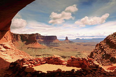 Photograph - False Kiva, Canyonlands Np  by Roupen  Baker