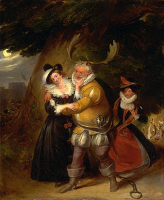 Falstaff Painting - Falstaff At Herne's Oak From The Merry Wives Of Windsor Act V Scene V by James Stephanoff