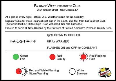 Photograph - Falstaff Weathercasters Club by Deborah Lacoste