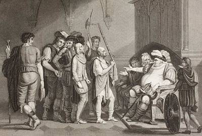 Falstaff With Justice Shallows. A Scene Art Print