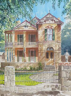 Mike Martin Painting - Faltin House by Mike Martin