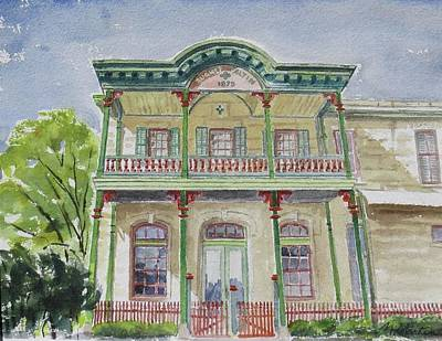 Mike Martin Painting - Faltin Store by Mike Martin