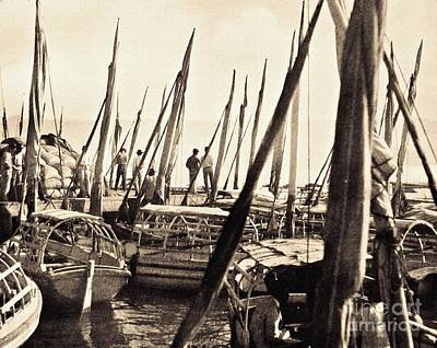 Photograph - Falucas In Havana Harbor In 1898 by William B Townsend