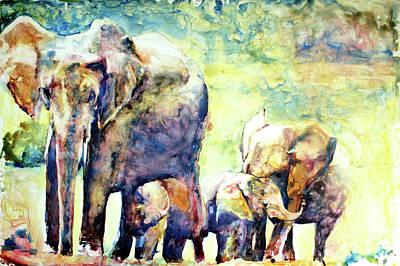 Painting - Familial Bonds by Elisha Dasenbrock