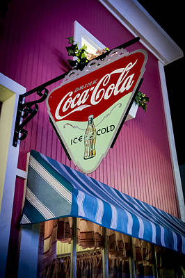 Coca-cola Signs Photograph - Familiar Sign by Jon Berghoff