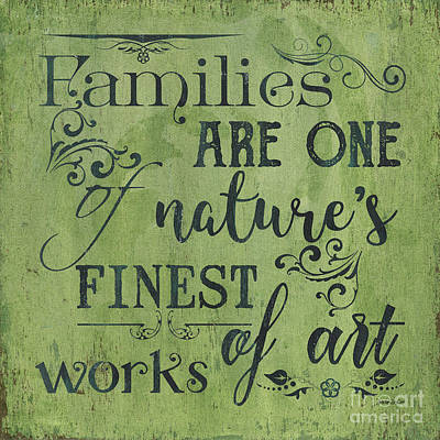 Nature Boy Painting - Families Are... by Debbie DeWitt