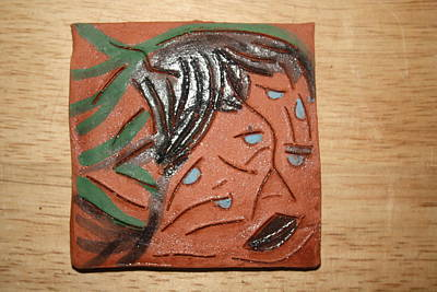 Ceramic Art - Family 6 - Tile by Gloria Ssali