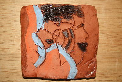 Ceramic Art - Family 7 - Tile by Gloria Ssali