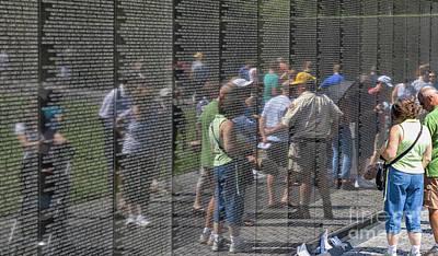 Photograph - The Vietnam War Veterans Memorial by Patricia Hofmeester