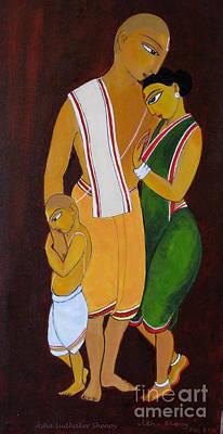 Bonding Painting - Family by Asha Sudhaker Shenoy