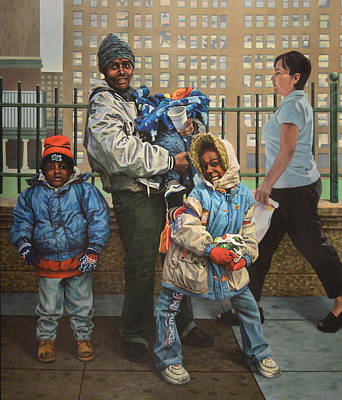 Figurative Painting - Family At One by Kenneth Cobb