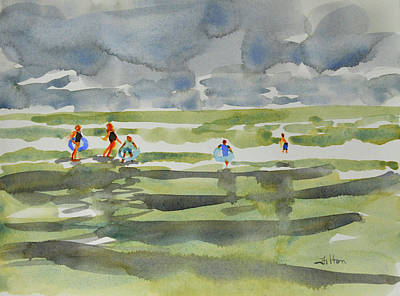 Painting - Family At The Beach 2 by Julianne Felton