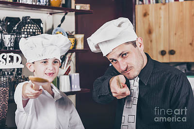 Family Guy Photograph - Family  Baking Homemade Food In Kitchen by Jorgo Photography - Wall Art Gallery