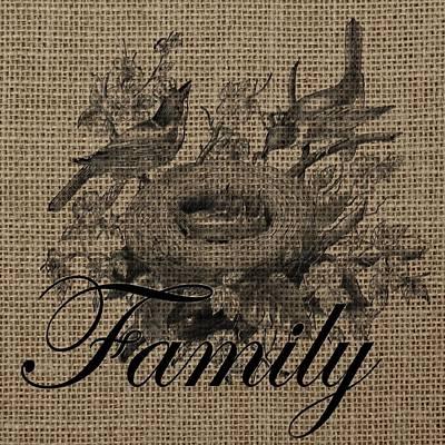 Family Birds 2 Art Print by Brandi Fitzgerald