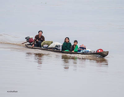 Photograph - Family Boat On The Amazon by Allen Sheffield