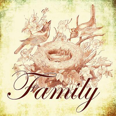 Family Birds 1 Art Print by Brandi Fitzgerald