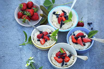 Porridge Bowl Photograph - Family Breakfast  by Iuliia Malivanchuk