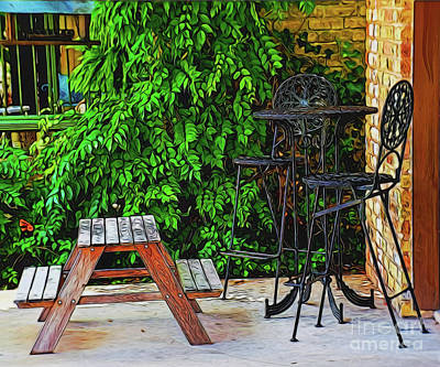 Photograph - Family Cafe 13818 by Ray Shrewsberry