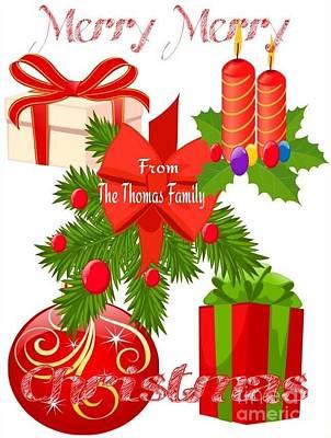 Family Christmas Greeting Art Print