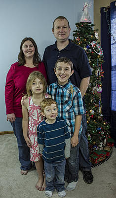 Photograph - Family Christmas Portrait 2015 by Josh Bryant