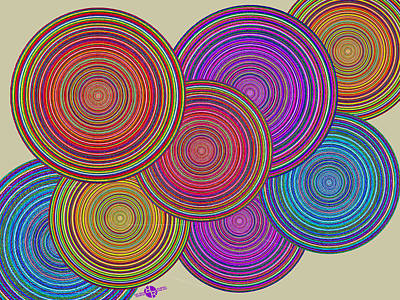 Painting - Family Circles Of Harmony 1 by Tony Rubino