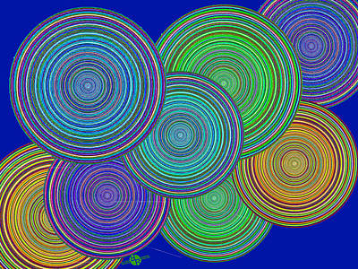 Painting - Family Circles Of Harmony 2 by Tony Rubino
