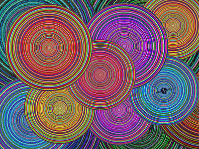 Blending Painting - Family Circles Old And Young Unite 2 by Tony Rubino